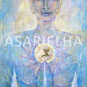Déesse-Bouddha Paix Intérieure - Huile sur toile