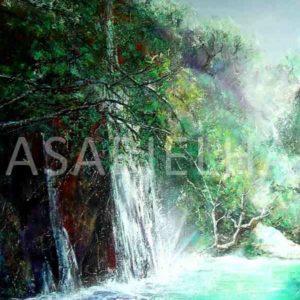 Sillans-la-Cascade - Huile sur toile