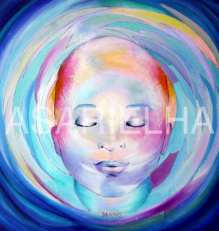 Enfant-Bouddha - Huile sur toile