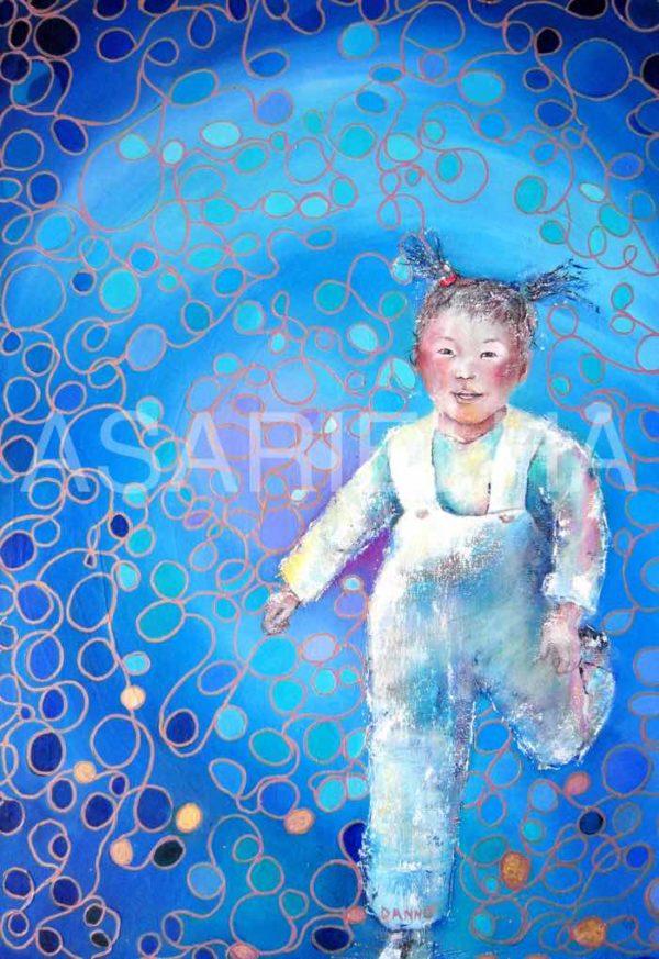 L'Enfant du Tibet - Huile sur toile